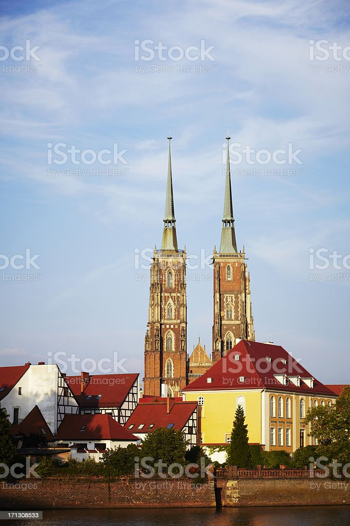 Wroclaw cathedral stock photo