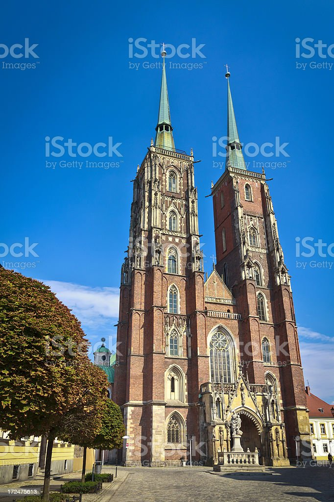 Wrocław Cathedral royalty-free stock photo