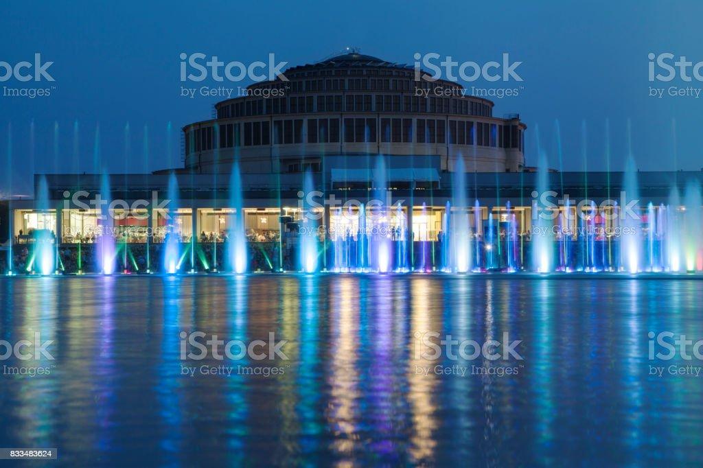 Wroclaw Multimedia Fountain stock photo