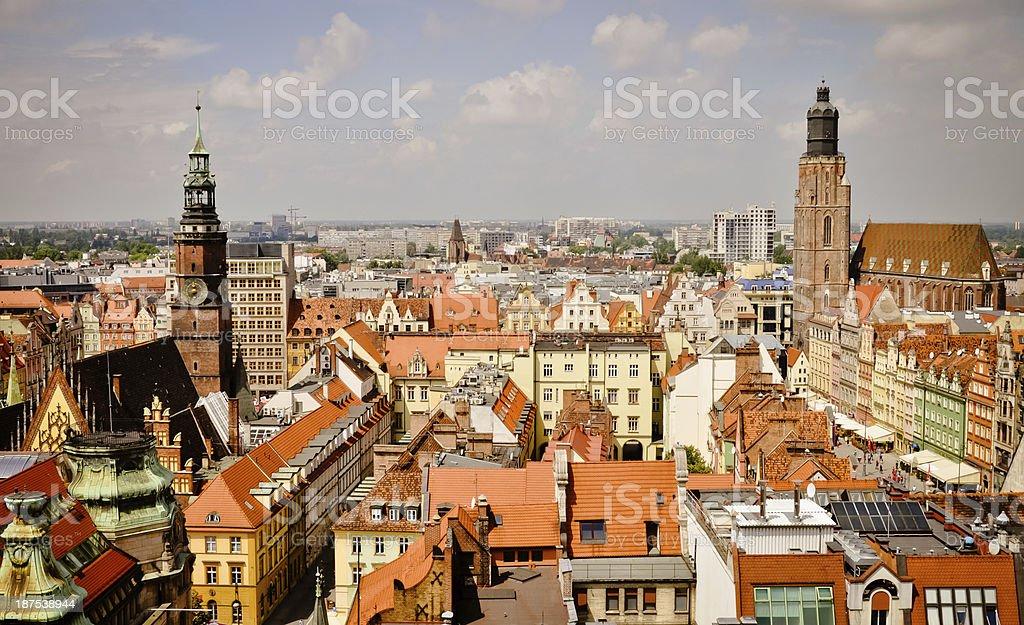 Breslau alte Stadt panorama Lizenzfreies stock-foto