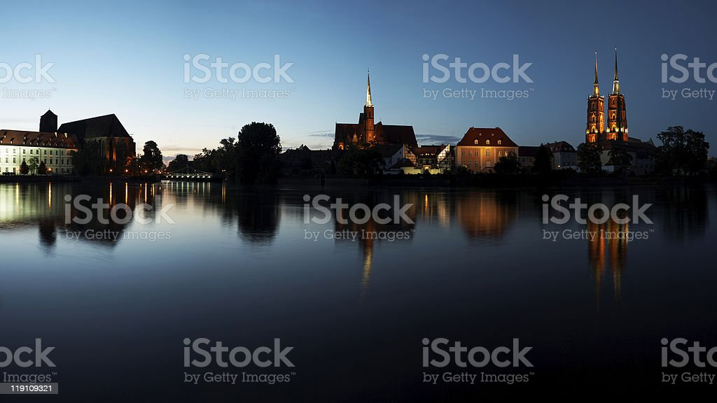 Wroclaw Panorama royalty-free stock photo