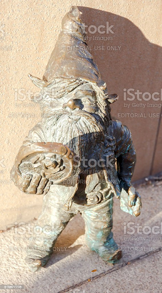 Wroclaw. Sculptures of gnomes stock photo