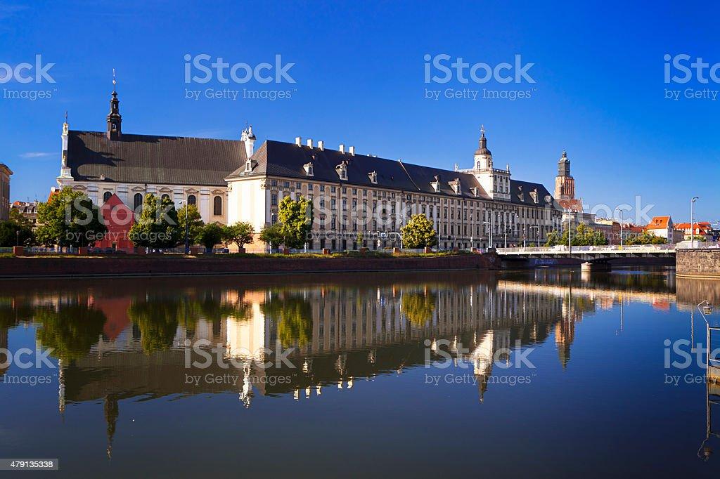 Wroclaw University stock photo