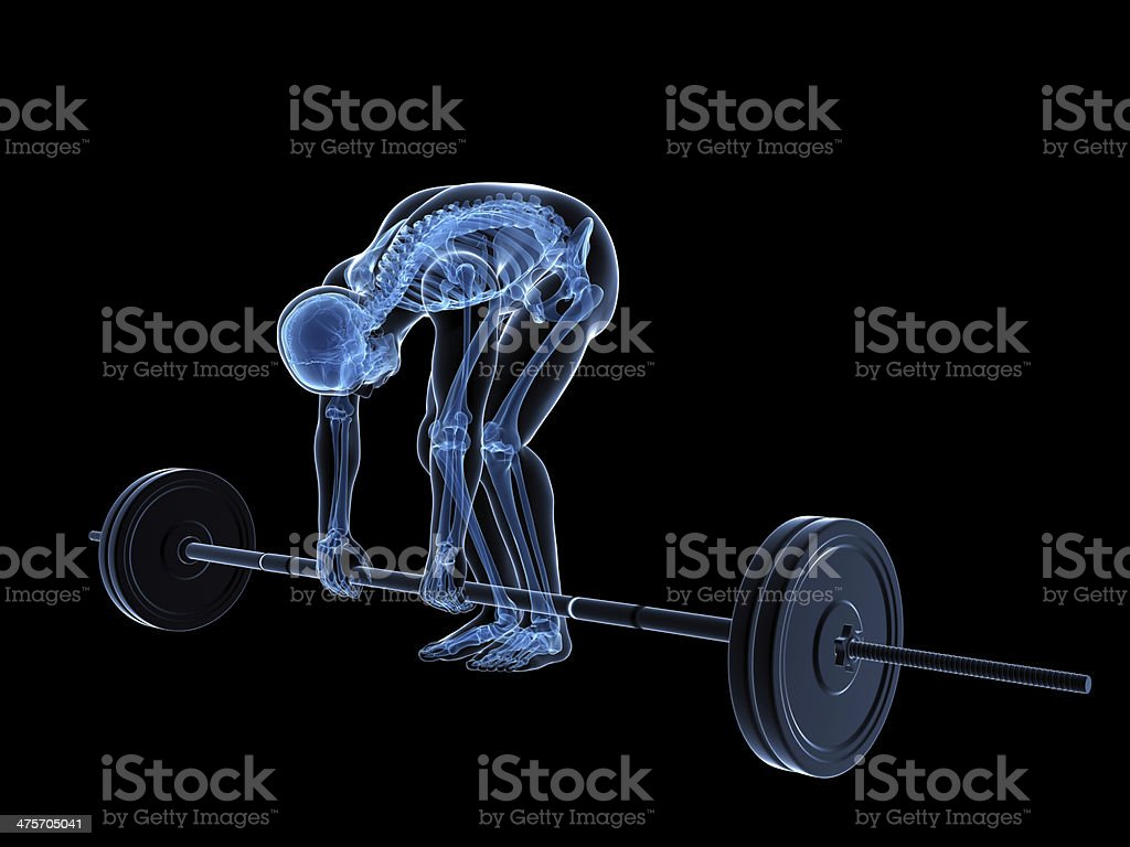 wrong lifting royalty-free stock photo