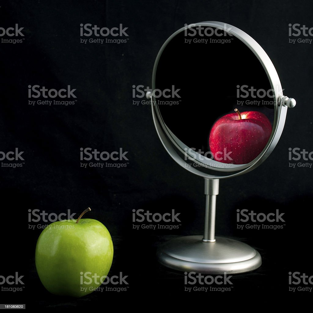 Wrong perception stock photo