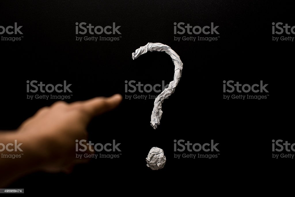 wrong question stock photo