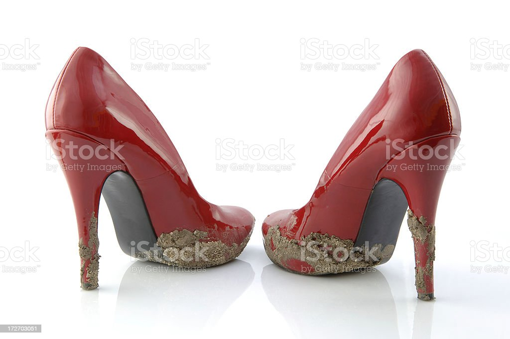 Wrong Shoes stock photo