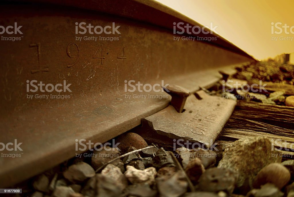 Wrong Side Of The Tracks royalty-free stock photo