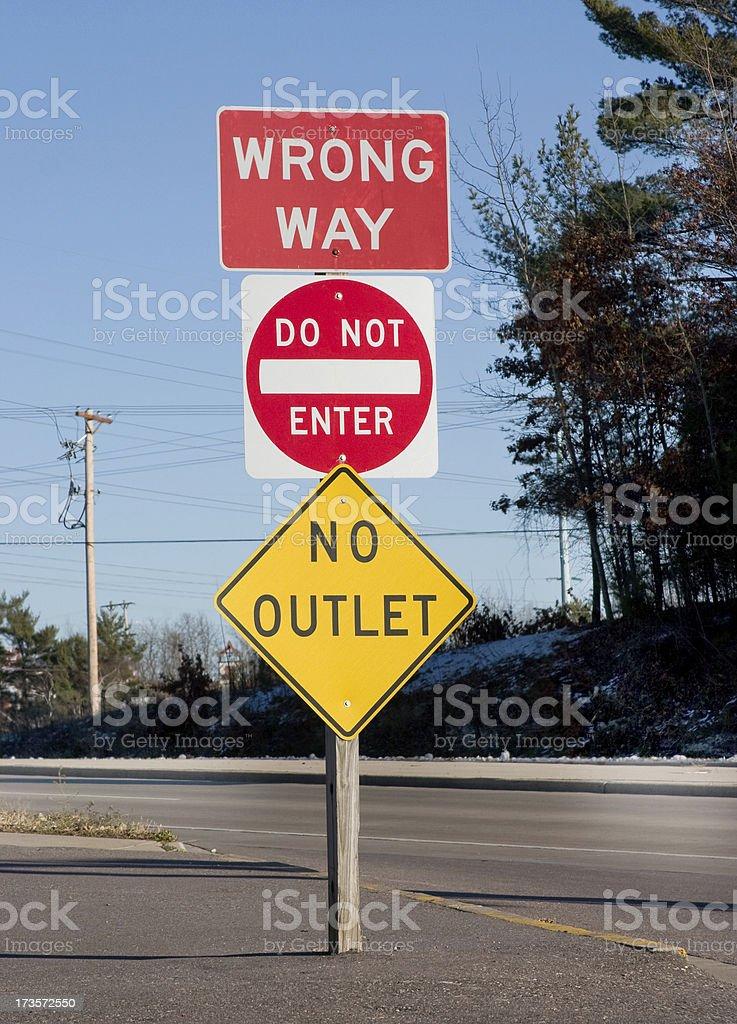 wrong way do not enter stock photo