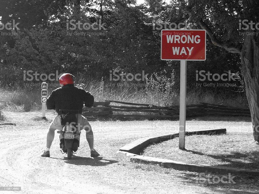 Wrong Way royalty-free stock photo
