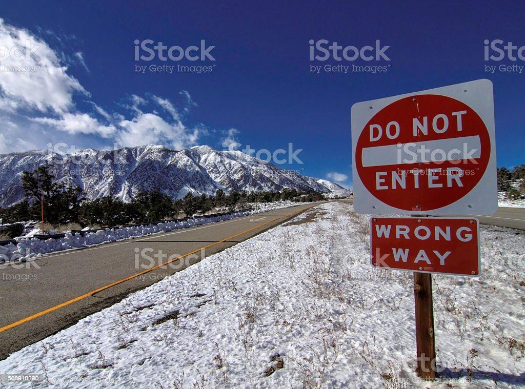 Wrong Way. stock photo