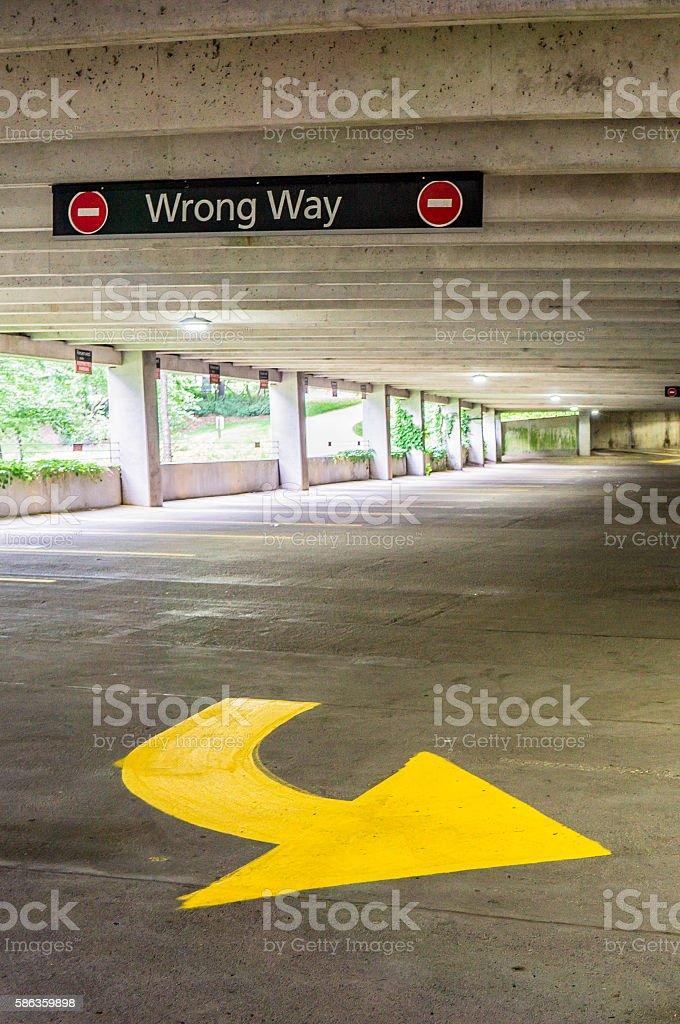 Wrong Way stock photo