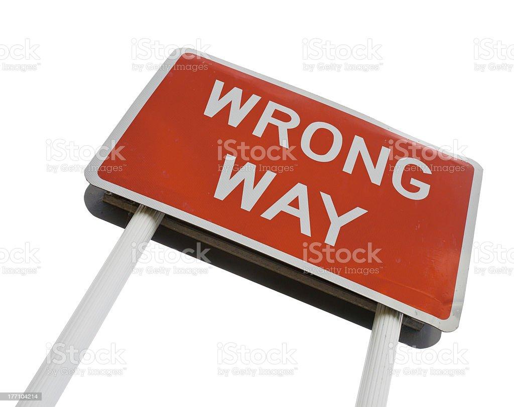 Wrong Way signpost royalty-free stock photo