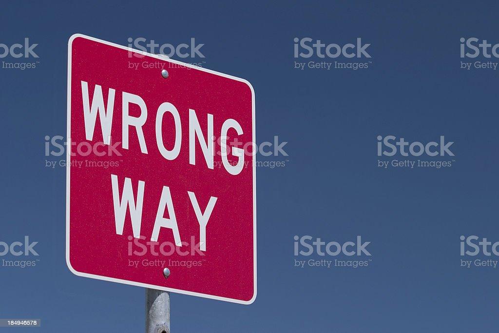 Wrong Way Traffic Sign royalty-free stock photo