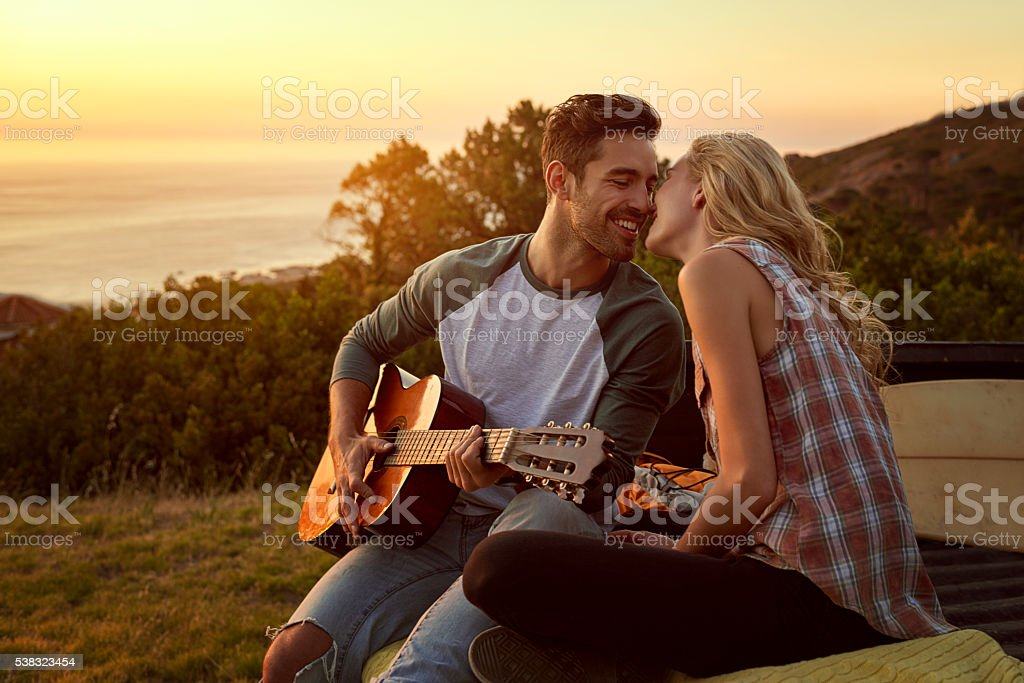 I wrote this song for you stock photo