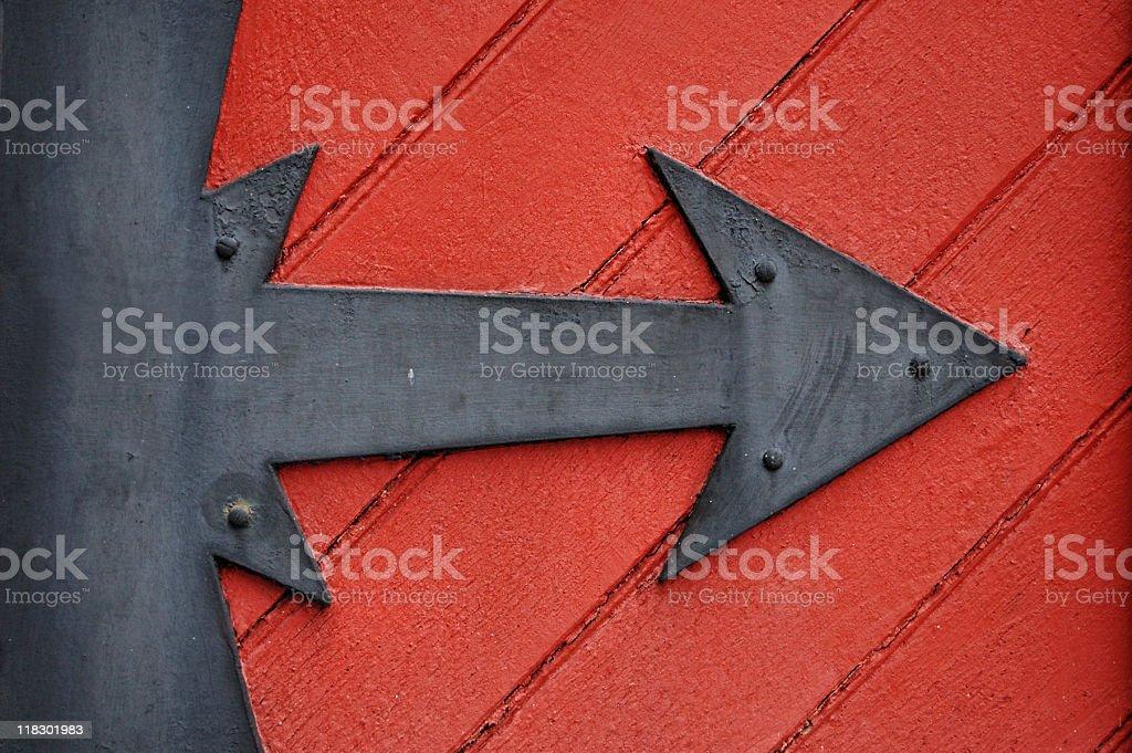 wrought iron arrow stock photo