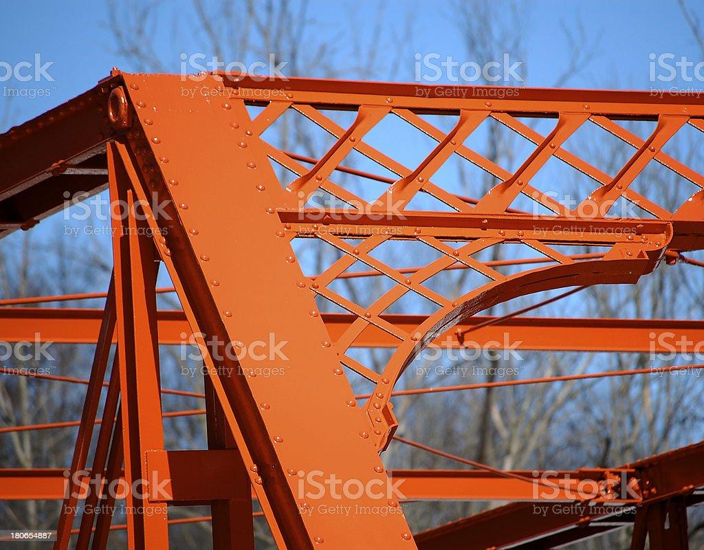 Wrought iron bridge, left side detail royalty-free stock photo