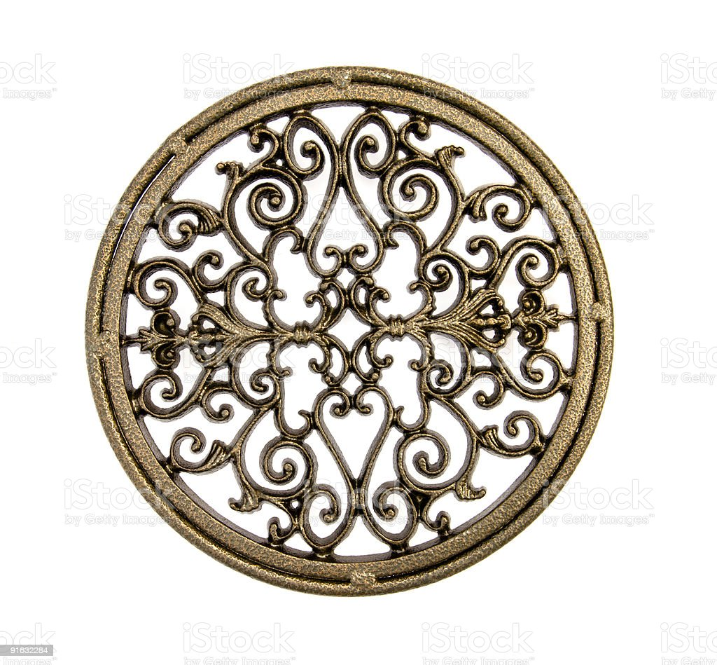 Wrought Iron Color Wrought Iron Decorative Circle Stock Photo 91632284 Istock