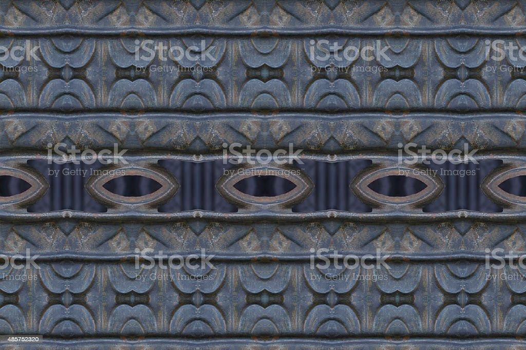 Wrought iron fence close stock photo