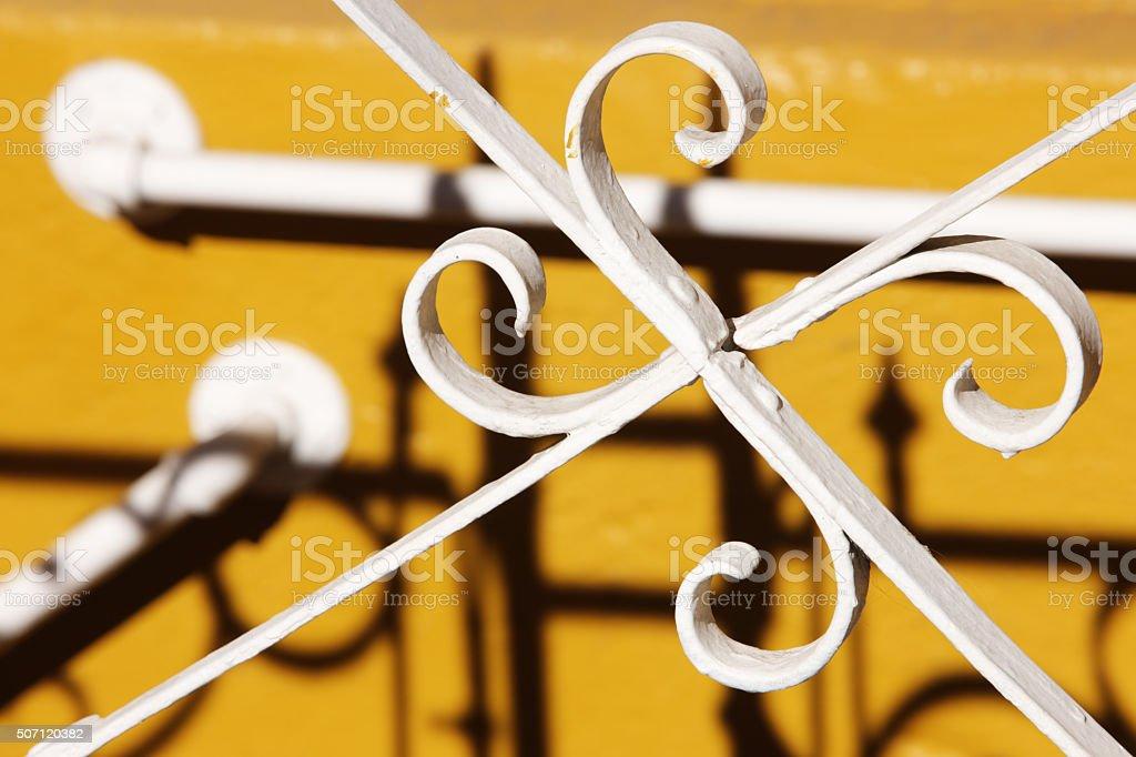 Wrought Iron Fence Gate Railing stock photo