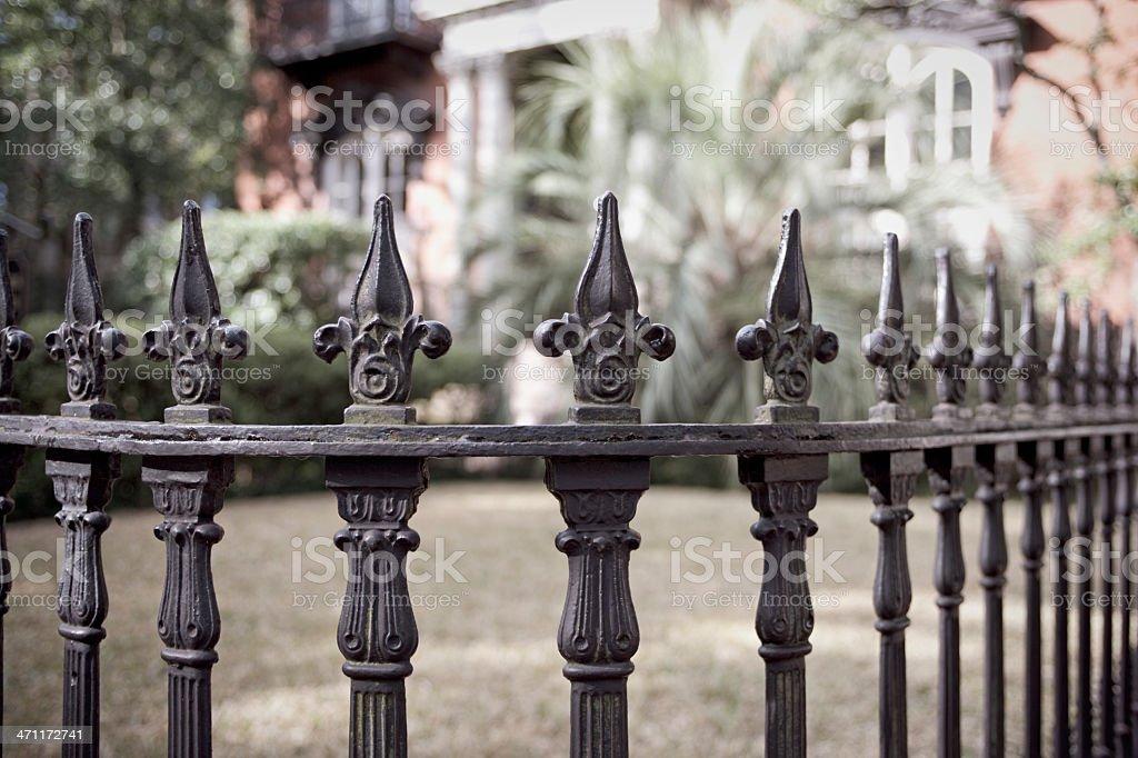 Wrought Iron Fence (XXL) stock photo