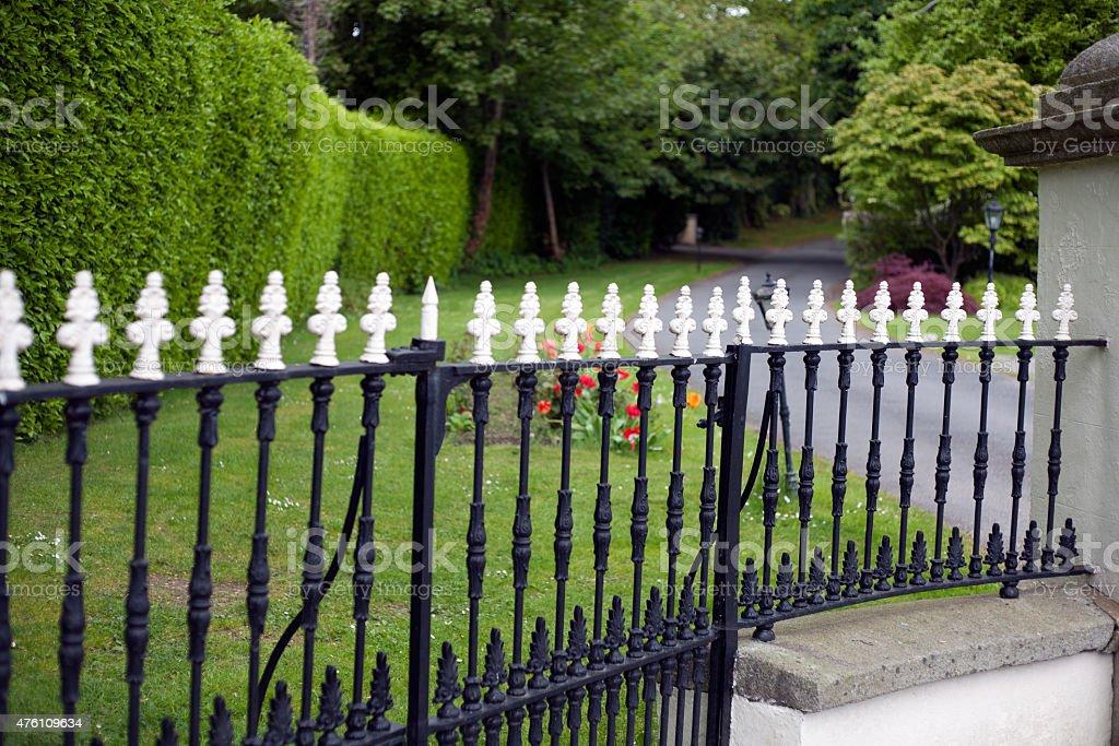 Wrought Iron Fence royalty-free stock photo
