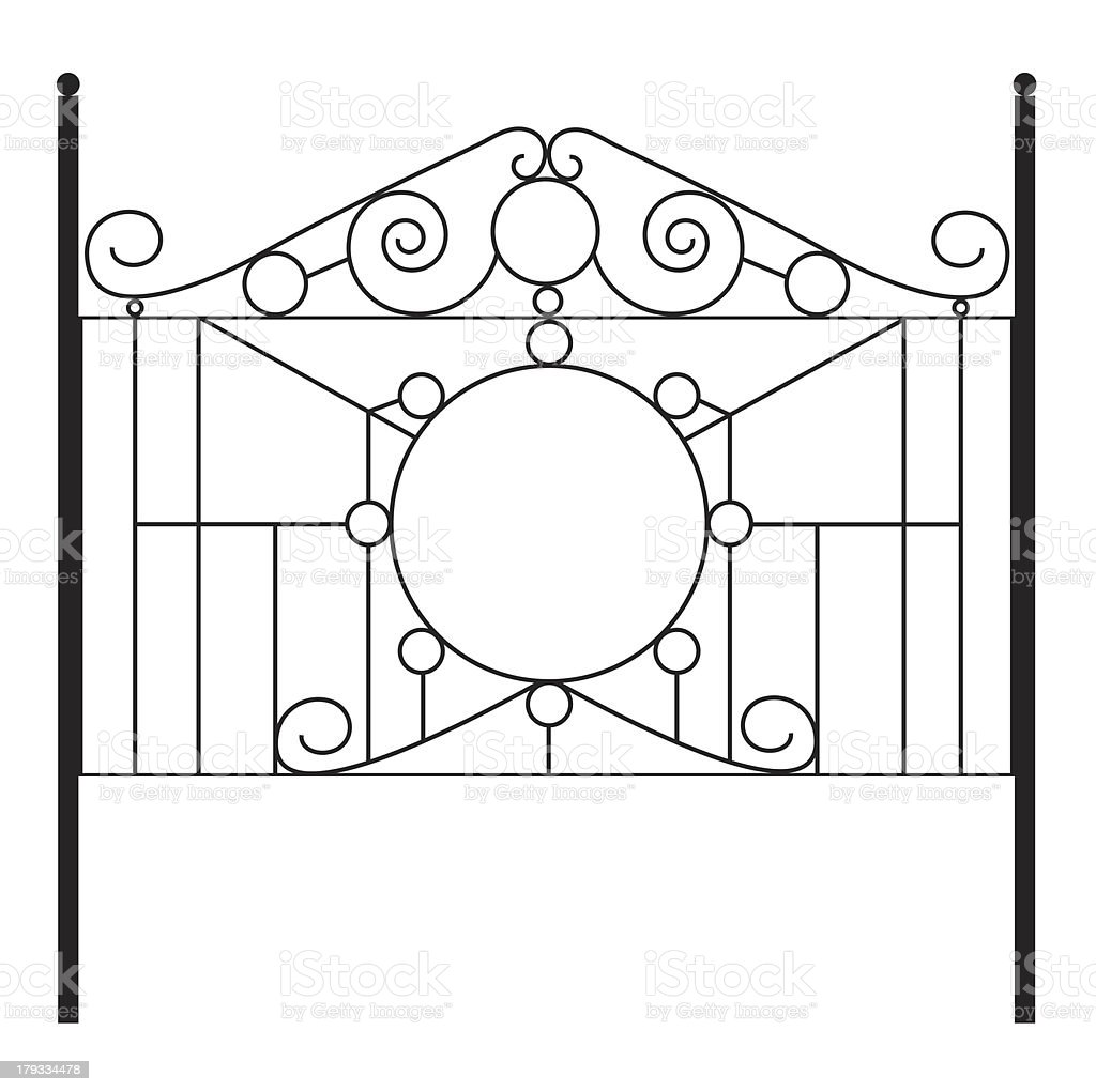 Wrought Iron Gate royalty-free stock photo