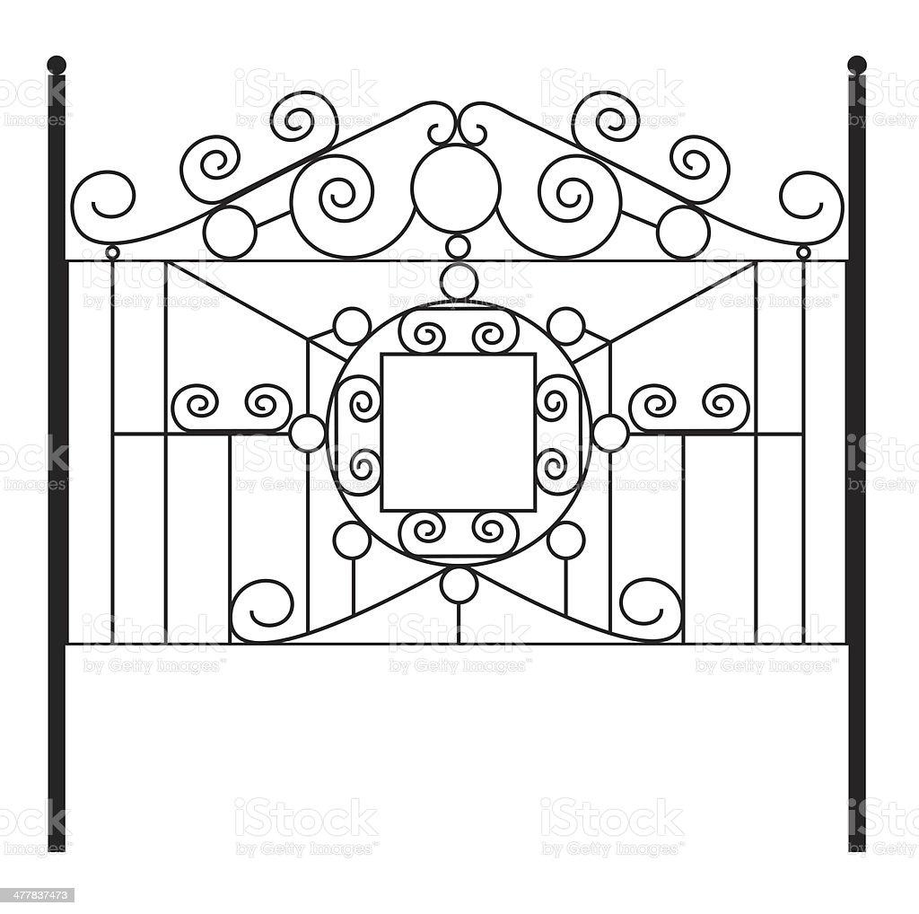 Wrought Iron Gate royalty-free stock photo