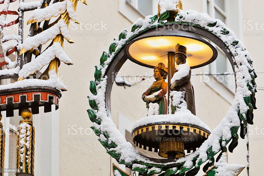 Wrought Iron Lamp stock photo