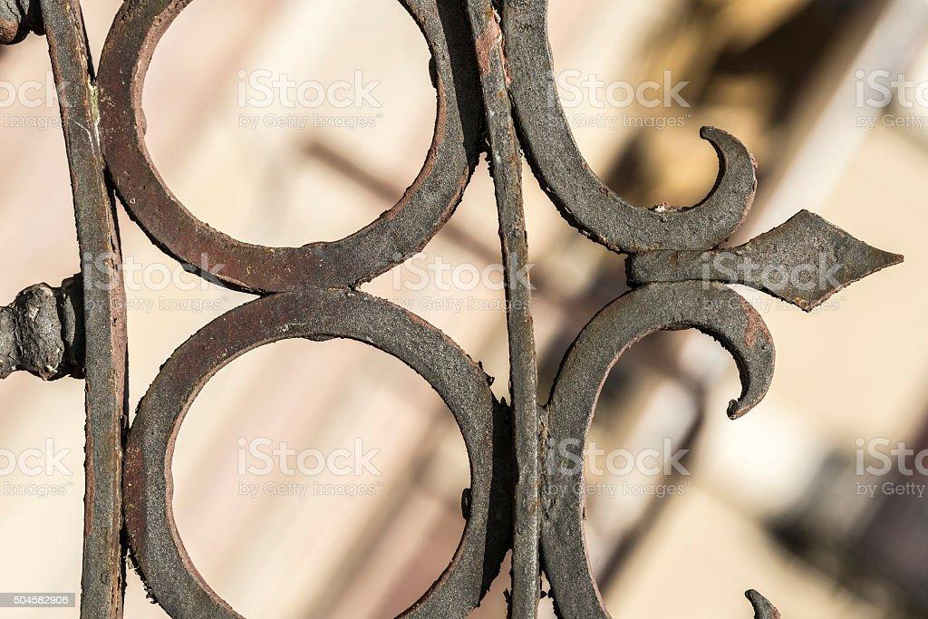 Wrought iron railing stock photo