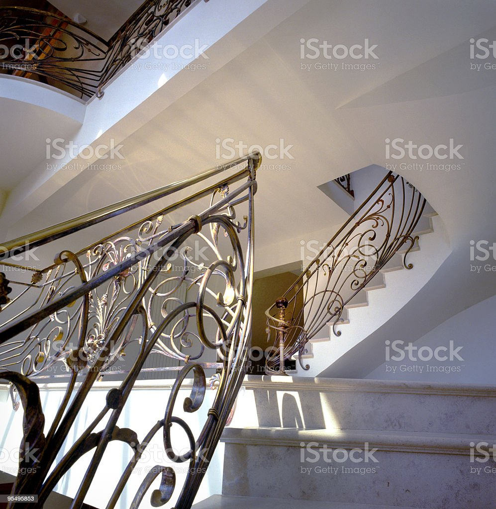 escaliers et rampes en fer forg? royalty-free stock photo