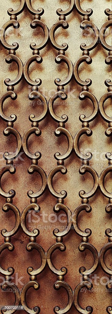 Wrought Iron Window Design stock photo