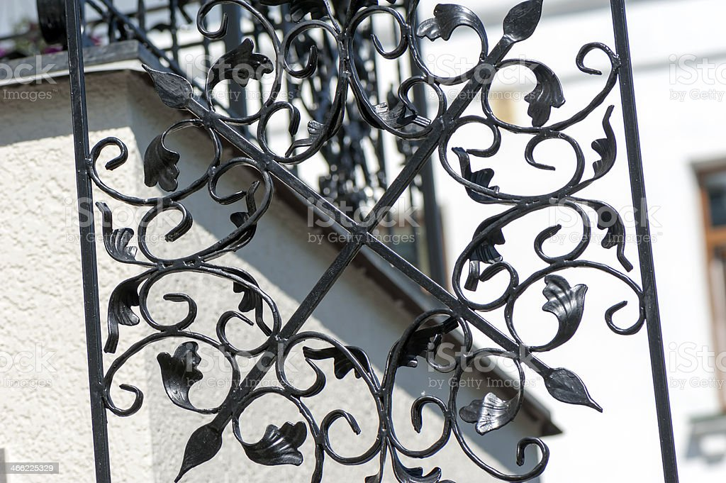 Wrought openwork fencing royalty-free stock photo