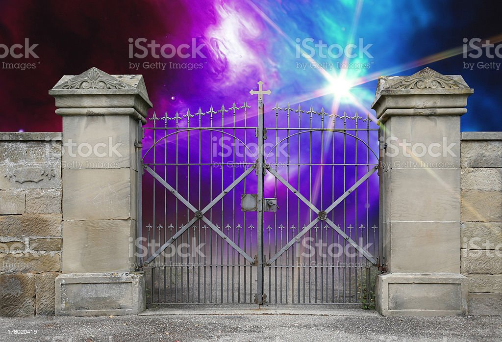 wrought-iron gate royalty-free stock photo