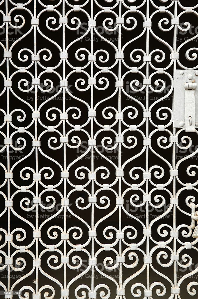 Wrought-Iron Gate Structure royalty-free stock photo
