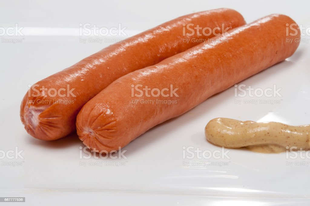 Würstchen Platte stock photo