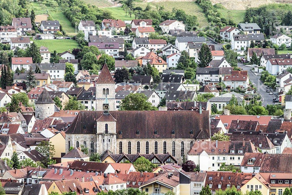 Würzburg Panorama der Stadt Lizenzfreies stock-foto