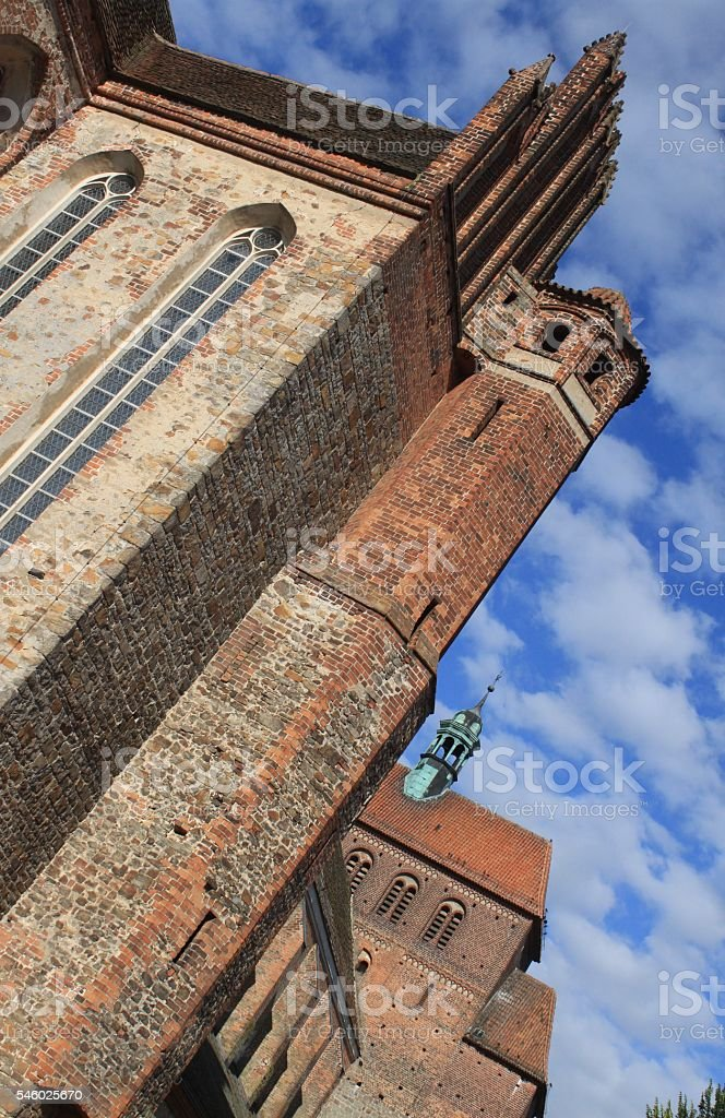 Wuchtiger Havelberger Dom stock photo