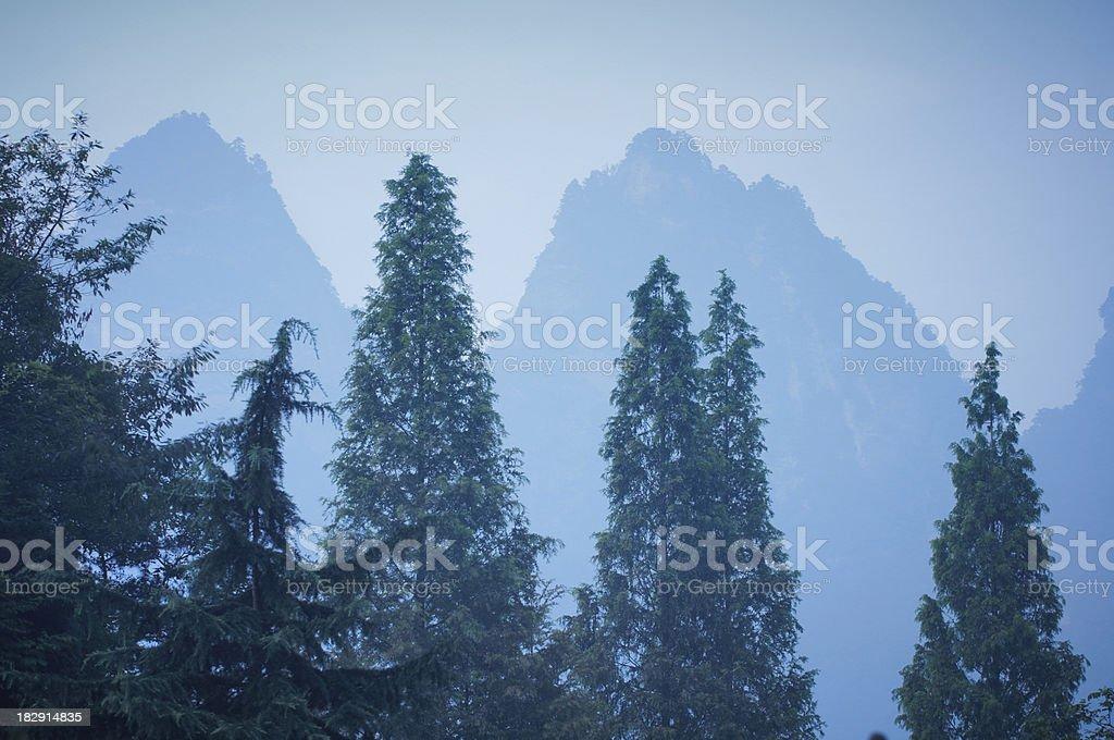 Wudang mountains stock photo