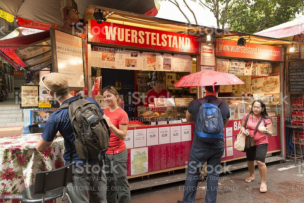Wuerstelstand royalty-free stock photo