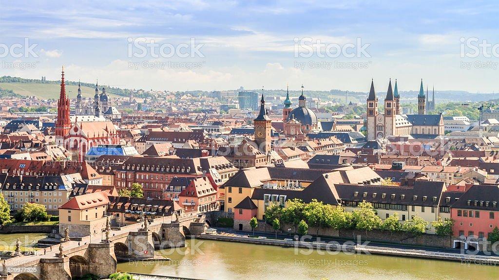 Wuerzburg Cityscape stock photo