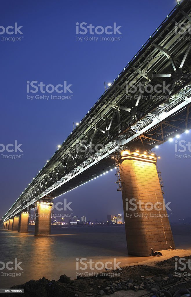 Wuhan Yangtze River Bridge royalty-free stock photo
