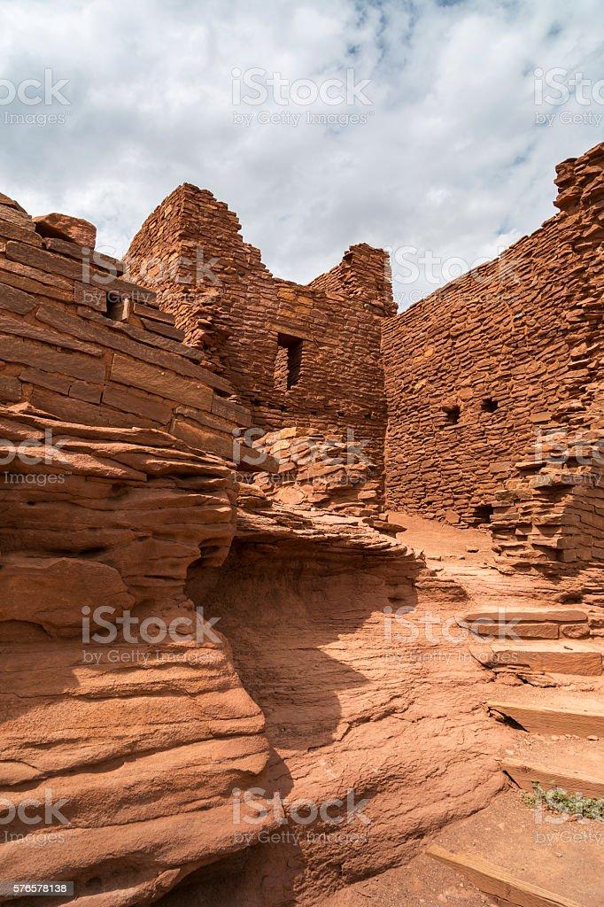 Wukoki Pueblo Ruin stock photo