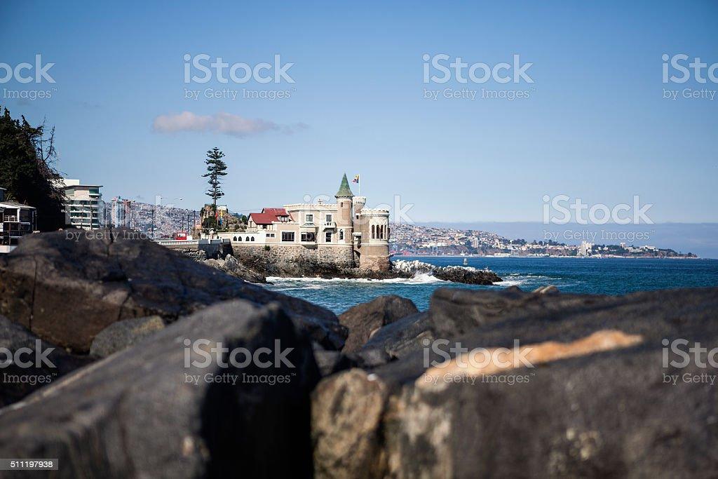 Wulff castle, Vina del Mar stock photo