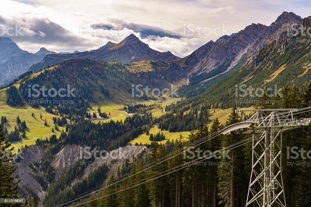 Wunderschönes Alpenpanorama stock photo