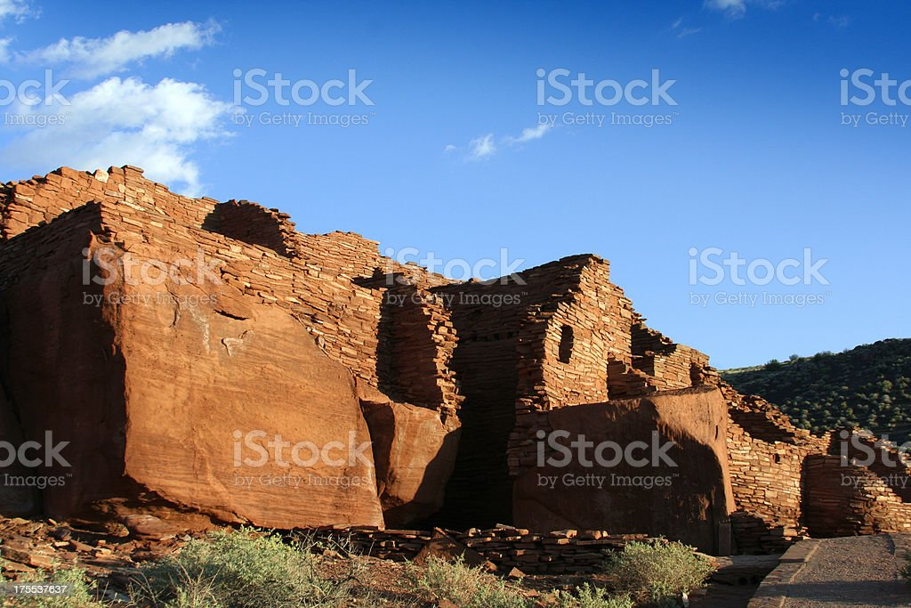 Wupatki Monument American Indian Pueblo stock photo