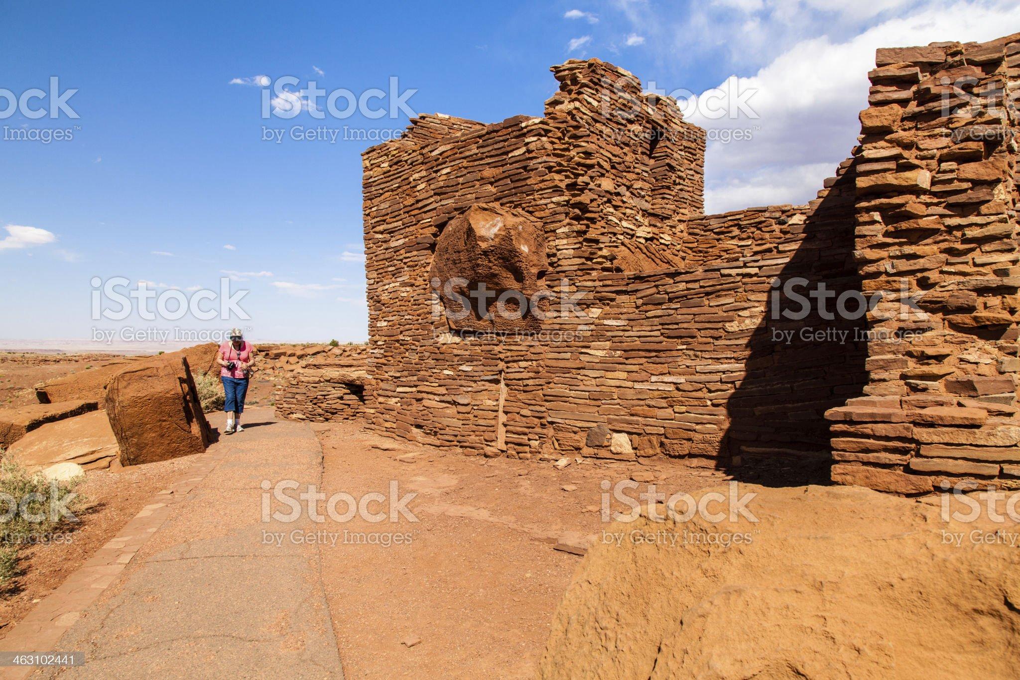 Wupatki Pueblo royalty-free stock photo