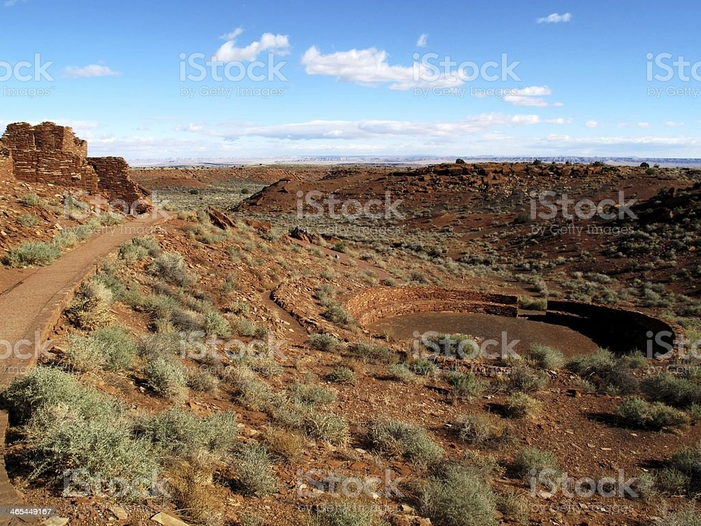 Wupatki Ruins stock photo