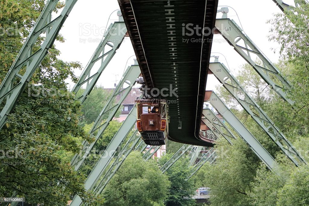 Wuppertal Suspension Railway, Germany stock photo