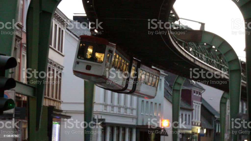 Wuppertal Suspension Railway In Germany Europe stock photo